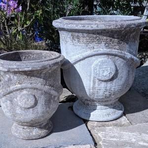 Atlantis Pedestal Pot White-744