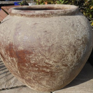 Atlantis Brown Fat Belly Urn -0