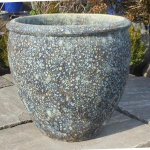 Atlantis Tall Rimmed Egg Pot Blue Medium-0