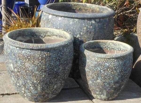 Atlantis Tall Rimmed Egg Pot Blue Medium-558