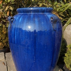 Blue Glazed Monkey Jar-0