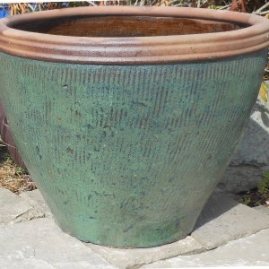 Glazed Canton Pot Green Medium-0