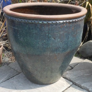 Glazed Mandarin Pot Green-0