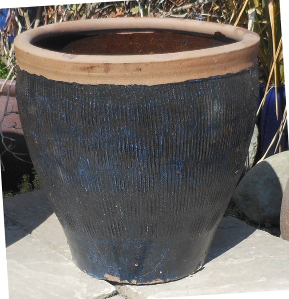 Glazed Canton Pot Blue-0