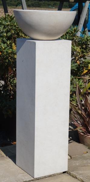 Fibre Clay Pillar and Bowl Large-0