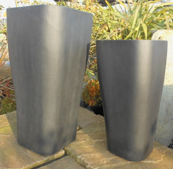 Fibre Glass Tall Flared Cube-509