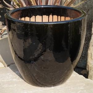 Glazed Egg Pot Black-0