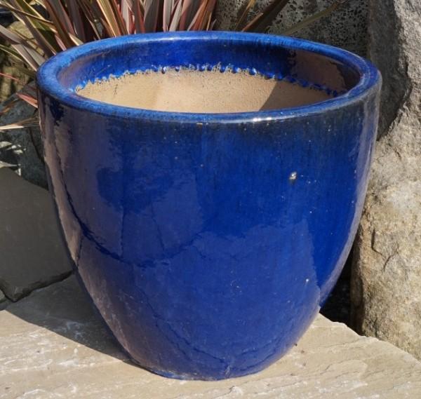 Glazed Egg Pot Blue Medium-0