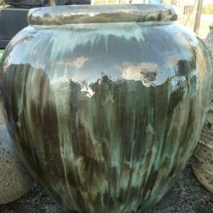 Glazed Egyptian Vase Green-0