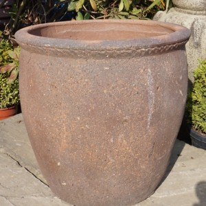 Old Stone Tall Scallop Rim Pot-0
