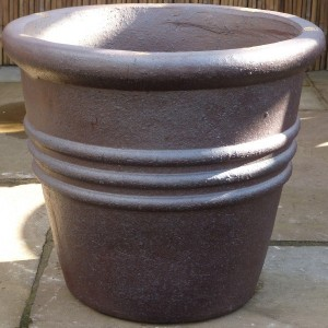 Rustic 3 Ring Tapered Pot-0