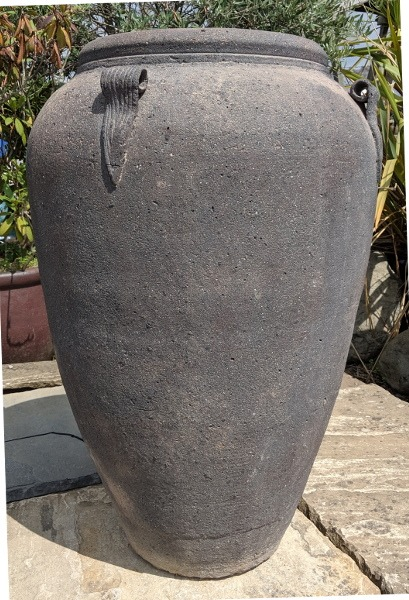 Old Stone Giant Monkey Jar-0