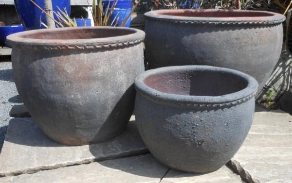 Old Stone Plain Round Wavy Rim-624