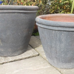 Old Stone Double Rim Pot Medium-466