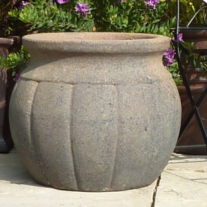Old Stone Small Pumpkin Pot -0