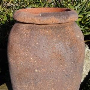 Old Stone Thick Rim Vase-0