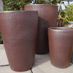 Rustic Jumbo Tall Round Pot-76