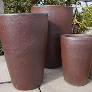Rustic Jumbo Tall Round Pot-76