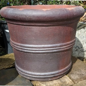 Rustic Straight Siided 3 Ring Pot-0