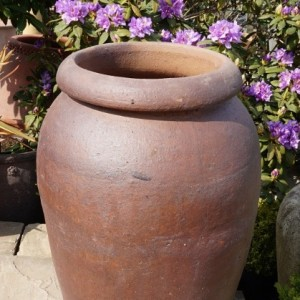 Rustic Tall Thick Rim Vase-291