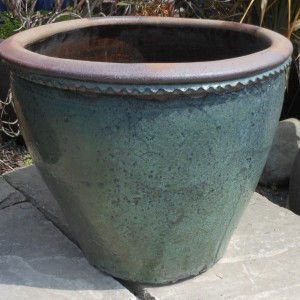 Glazed Mandarin Pot Green Medium-0