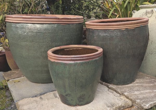Glazed Canton Pot Green-727
