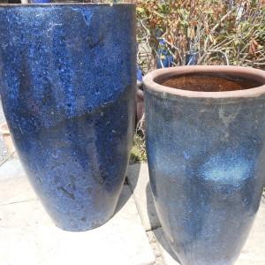 Glazed Tall Rimless Jar Blue Medium-595