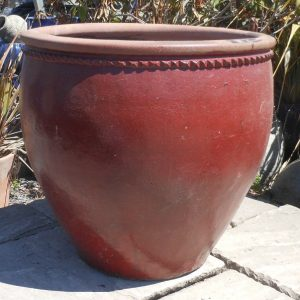 Glazed Mandarin Pot Red-0