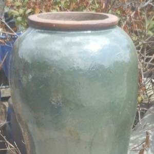 Glazed Peking Jar Green-0
