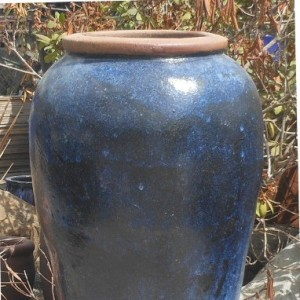 Glazed Peking Jar Blue-0