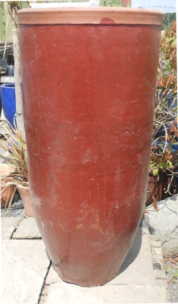 Glazed Giant Rimmed Jar Red-0