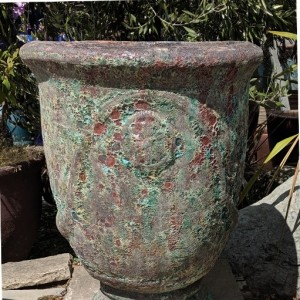 Atlantis Pedestal Pot Burnt Green-0