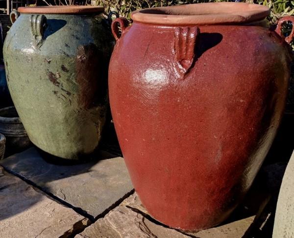 Glazed Giant Monkey Jar Green-708