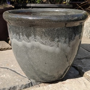 Glazed 352 Pot Grey Medium-0