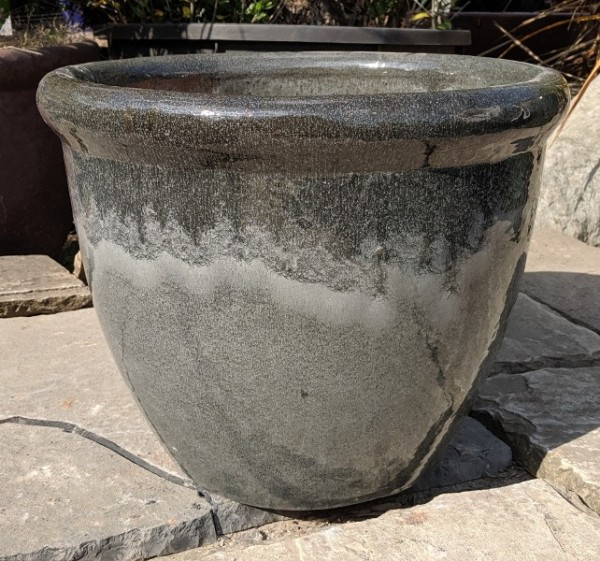 Glazed 352 Pot Grey Medium-0