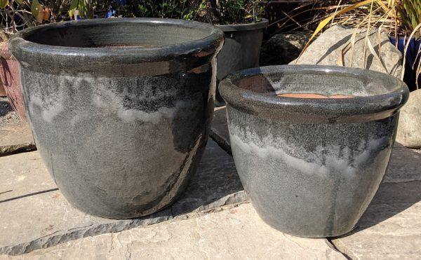 Glazed 352 Pot Grey-796