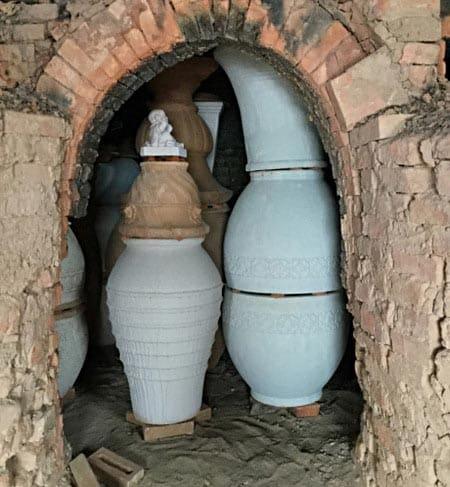 Garden Pots in a Kiln