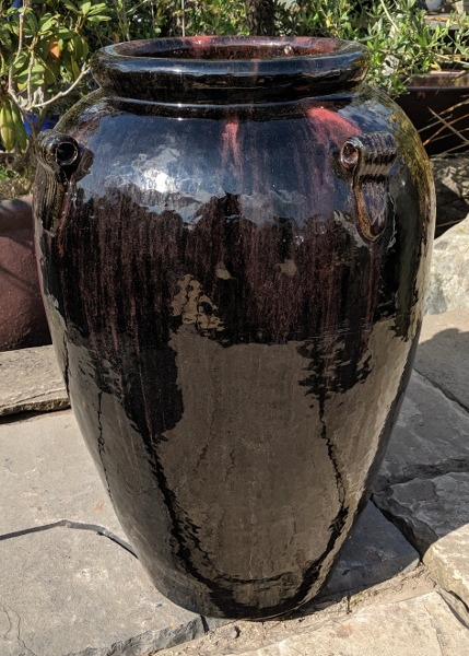 Black Glazed Monkey Jar-0